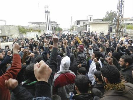 DREUTERS/Misra Al-Misri/Shaam News Network/Handout (SYRIA - Tags: POLITICS CIVIL UNREST)