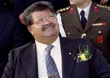 Turkish President Turgut Ozal, seen in this January, 1993 file picture, 66, died of heart failure on April 17, 1993 in a hospital in Ankara. REUTERS/Fatih Saribas/Files