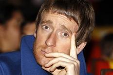 El campeón del Tour de Francia Bradley Wiggins no se ha descartado para intentar retener el título el próximo año. En la imagen, de 24 de octubre, el ciclista británico Bradley Wiggins durante la presentación del recorrido del Tour de Francia 2013. REUTERS/Benoit Tessier