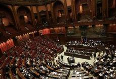 Una immagine dell'aula di Montecitorio. REUTERS/Tony Gentile (ITALY - Tags: POLITICS)