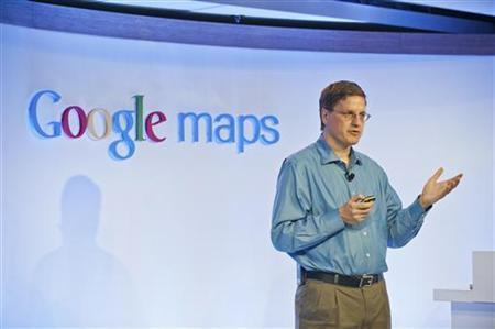 Brian McClendon, Vice President of Engineering for Google Maps, gives a behind-the-scenes look at how Google Maps are built and kept up-to-date at the Google offices in San Francisco, California, June 6, 2012. REUTERS/Google/Handout