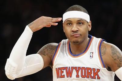 Anthony inspires surging Knicks to big win over Lakers