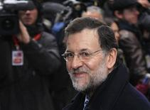Spain's Prime Minister Mariano Rajoy arrives at an European Union leaders summit in Brussels December 13, 2012. REUTERS/Yves Herman