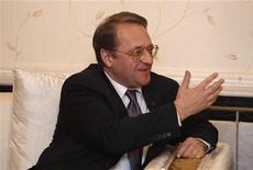 Declarações feitas pelo vice-chanceler russo Mikhail Bogdanov foram as mais pessimistas desde o início do conflito. 01/08/2012 REUTERS/Saad Shalash