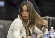 Nicole Minetti durante un consiglio regionale in Lombardia. REUTERS/Paolo Bona