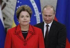 Presidente Dilma Rousseff espera restabelecer comércio de carnes com a Rússia com o fim do embargo a três Estados do Brasil. 14/12/2012 REUTERS/Maxim Shemetov