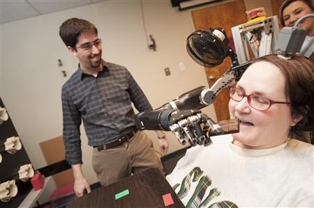Mind-controlled robotic arm has skill and speed of human limb