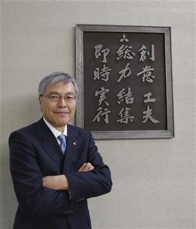 12月17日、三菱重工業の大宮英明社長は、ロイターとのインタビューで、新政権には原発、再生エネルギーなど最適な電源を組み合わせた具体的なエネルギー政策を示してほしいと要望した。都内で同日撮影(2012年 ロイター/Yuriko Nakao)