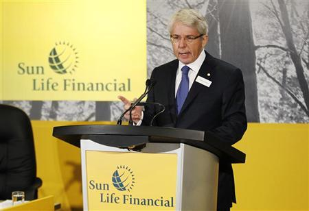 Sun Life Financial President and CEO Dean Connor speaks at their annual general meeting for shareholders in Toronto, May 10, 2012. REUTERS/Mark Blinch