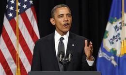 Presidente dos Estados Unidos Barack Obama pode tornar mais rigorosos os métodos de avaliação dos cidadãos interessados em comprar armas no país. 16/12/2012 REUTERS/Kevin Lamarque