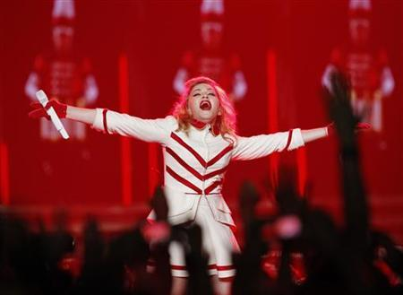 Singer Madonna performs at Staples Center as part of her MDNA world tour in Los Angeles, California October 10, 2012. REUTERS/Mario Anzuoni/Files