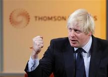 London's Mayor Boris Johnson speaks during a Thomson Reuters Newsmaker event at Canary Wharf, east London December 4, 2012. REUTERS/Andrew Winning