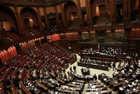 The Lower House of Parliament is seen during a vote in Rome December 7, 2012. REUTERS/Tony Gentile
