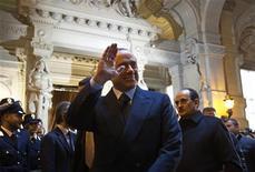 L'ex premmier Silvio Berlusconi nel gennaio 2010, a Roma, in occasione dell'inaugurazione dell'anno giudiziario. REUTERS/Max Rossi