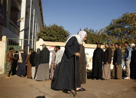 Early signs show Egypt's new constitution passing