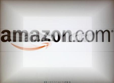 A zoomed image of a computer screen showing the Amazon logo is seen in Vienna November 26, 2012. REUTERS/Heinz-Peter Bader/Files