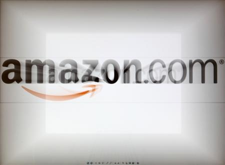 A zoomed image of a computer screen showing the Amazon logo is seen in Vienna November 26, 2012.REUTERS/Heinz-Peter Bader