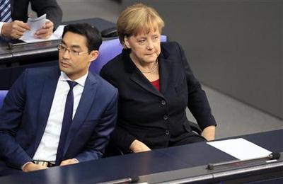 Merkel's FDP partners scramble to avoid electoral oblivion