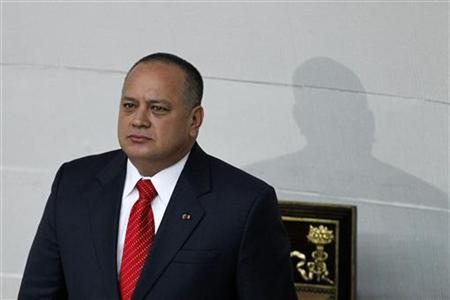 Venezuelan National Assembly President Diosdado Cabello attends an assembly inauguration in Caracas January 5, 2013. REUTERS/Carlos Garcia Rawlins
