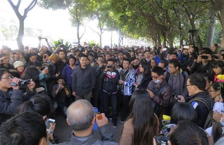 Chinese hold anti-censorship protest outside newspaper