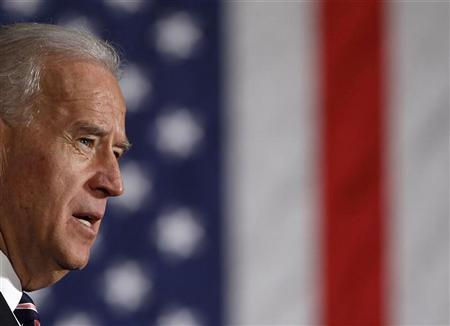 U.S. Vice President Joe Biden speaks at the 30th Street Station in Philadelphia, in this February 8, 2011 file photo. REUTERS/Larry Downing