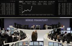 Un'immagine della Borsa di Francoforte. REUTERS/Remote/Lizza David
