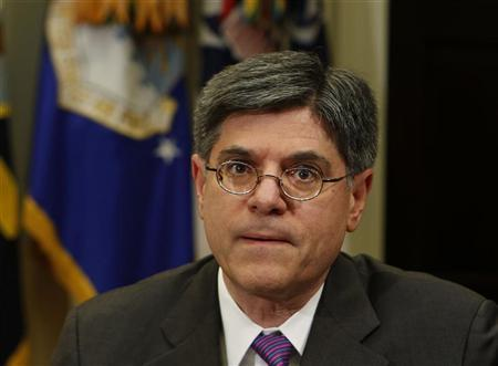 Jack Lew looks on at a bipartisan meeting with Congressional leaders in the Roosevelt Room of White House to discuss the economy, November 16, 2012. REUTERS/Larry Downing/Files