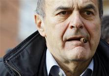Un'immagine del leader del Pd Pier Luigi Bersani. REUTERS/Alessandro Garofalo