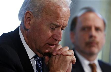U.S. Vice President Joe Biden holds a meeting on curbing gun violence at the White House in Washington January 10, 2013. REUTERS/Kevin Lamarque