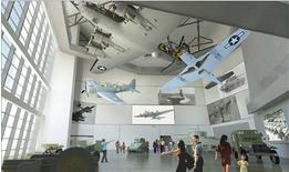 An artist's rendering courtesy of the National World War II Museum and supplied to Reuters January 11, 2013 shows the interior of the new Freedom Pavilion in New Orleans, Louisiana. REUTERS/National World War II Museum/Handout