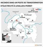 INCENDIE DANS UN POSTE DE TRANSFORMATION D'ÉLECTRICITÉ À LEVALLOIS-PERRET