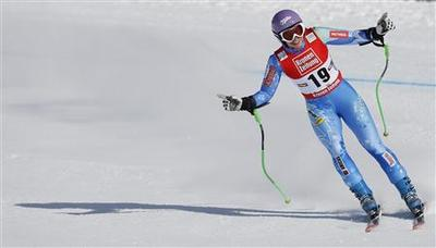 Alpine skiing: Tina Maze completes the set with a super-G win