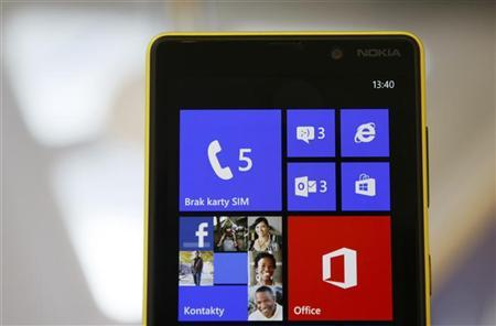 A Nokia Lumia smartphone is pictured in a shop in Warsaw, January 11, 2013. REUTERS/Kacper Pempel