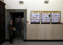 Alcuni dei loghi esposto al ministero dell'Interno. REUTERS/ Alessandro Bianchi