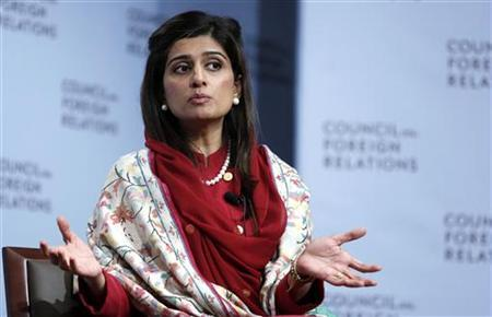 Hina Rabbani Khar, Pakistan's Minister for Foreign Affairs speaks on stage at the Council for Foreign Relations in New York, January 16, 2013. REUTERS/Carlo Allegri