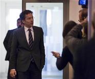 Le ministre des Finances néerlandais, Jeroen Dijsselbloem, présentera formellement sa candidature à la présidence de l'Eurogroupe vendredi. L'instance qui regroupe les ministres des Finances des 17 pays de la zone euro doit désigner lundi le remplaçant de son président actuel, le Luxembourgeois Jean-Claude Juncker. /Photo prise le 11 janvier 2013/REUTERS/Michael Kooren