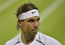 Rafael Nadal, absent des courts depuis près de sept mois, fera son retour début février à l'Open du Chili à Vina del Mar. /Photo prise le 28 juin 2012/REUTERS/Toby Melville (BRITAIN - Tags: SPORT TENNIS)