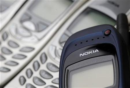 Illustration picture shows Nokia logo on used cell phones, in Zurich, April 30, 2012. REUTERS/Christian Hartmann/Files
