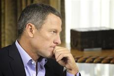 Armstrong, finalmente, admite haberse dopado En la imagen, Armstrong durante la entrevista con Oprah Winfrey en Austin, Texas, el 14 de enero de 2013. REUTERS/Harpo Studios, Inc/George Burns/Handout