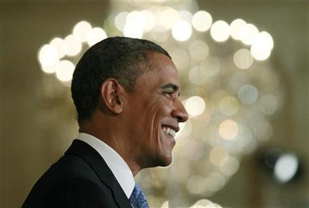 U.S. President Barack Obama is pictured during a news conference in the East Room of the White House in Washington, January 14, 2013. REUTERS/Jason Reed