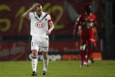 Le défenseur des Girondins de Bordeaux Matthieu Chalmé, peu utilisé depuis deux saisons, a été prêté à l'AC Ajaccio jusqu'à la fin de saison sans option d'achat. /Photo d'archives/ REUTERS/Stéphane Mahé