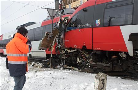 Dozens hurt in head-on Vienna commuter train crash