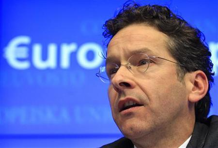 The Netherlands' Finance Minister Jeroen Dijsselbloem holds his first news conference after being appointed new Eurogroup Chairman during a euro zone finance ministers meeting in Brussels January 21, 2013. REUTERS/Yves Herman