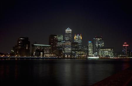 A view of Canary Wharf on the River Thames in London March 15, 2012. REUTERS/Kieran Doherty