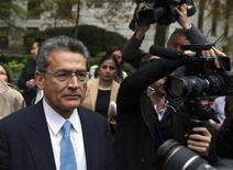 Former Goldman Sachs Group Inc board member Rajat Gupta departs Manhattan Federal Court after being sentenced in New York, October 24, 2012. REUTERS/Lucas Jackson