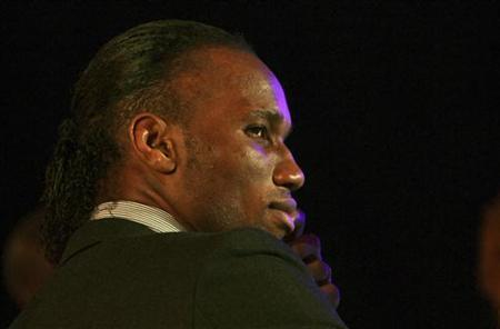 Ivorian soccer player Didier Drogba who plays for Shanghai Shenhua in China attends the African soccer player awards ceremony in Accra December 20,2012. REUTERS/Luc Gnago