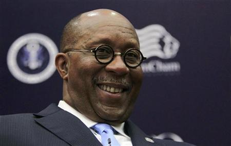 U.S. Trade Representative Ron Kirk smiles during an event at the Singapore Management University April 26, 2012. REUTERS/Tim Chong