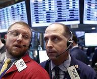 Trader a lavoro. REUTERS/Brendan McDermid