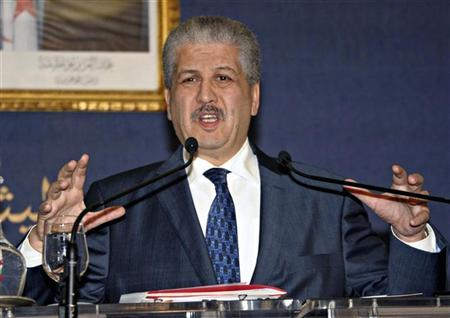 Algeria's Prime Minister Abdelmalek Sellal holds a news conference in Algiers January 21, 2013. REUTERS/Stringer
