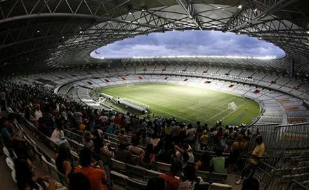 A general view of the Mineirao stadium during its inauguration in Belo Horizonte December 21, 2012. REUTERS/Washington Alves
